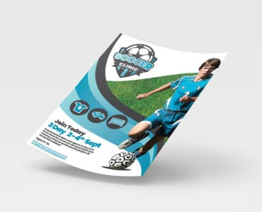 A4 Soccer Camp Poster Template