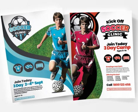 A4 Soccer Camp Poster Templates
