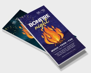 Bonfire Night DL Card Template