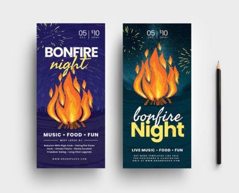 Bonfire Night DL Card Template
