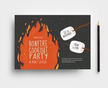 Bonfire Night Flyer Template