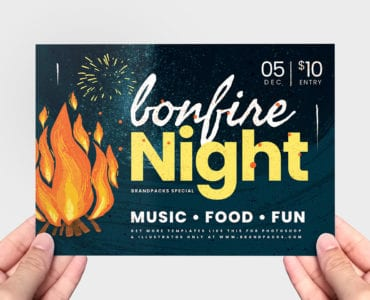 Bonfire Night Flyer Template