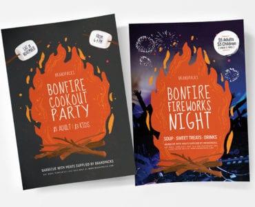 Bonfire Night Poster Templates