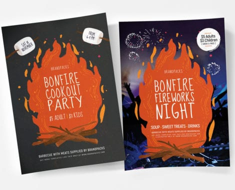 Bonfire Night Poster Templates