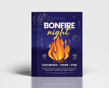 Bonfire Night Poster Template