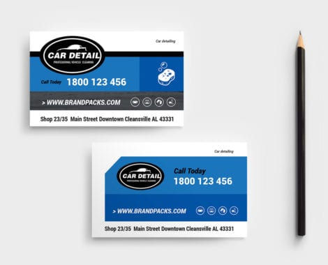 Car Detailing Business Card Template