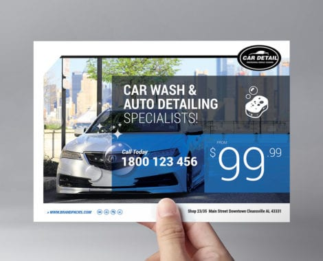 Car Detailing Flyer Template
