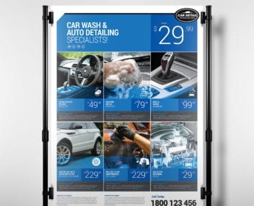 Car Detailing Poster Template