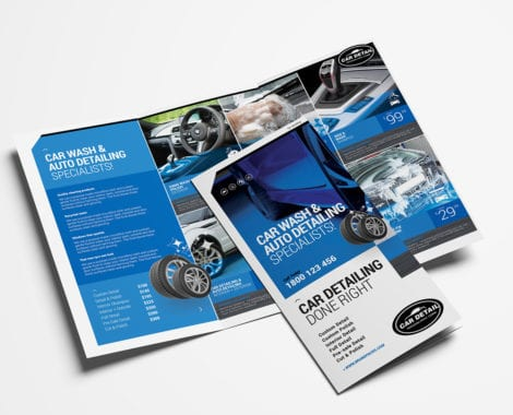 Car Detailing Tri-Fold Brochure Template