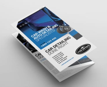 Car Detailing Tri-Fold Brochure Template