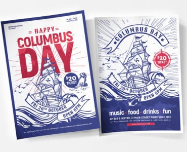 Columbus Day Poster Templates