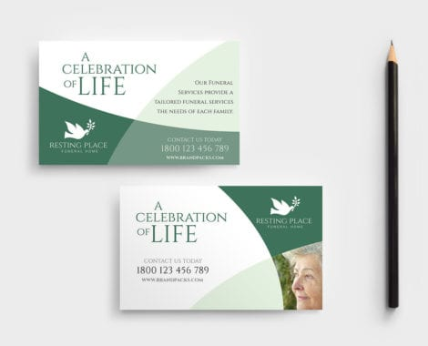 Funeral Service Business Card Template