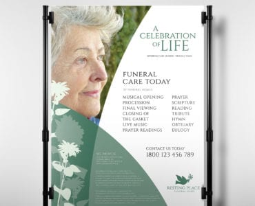 Funeral Service Poster Template