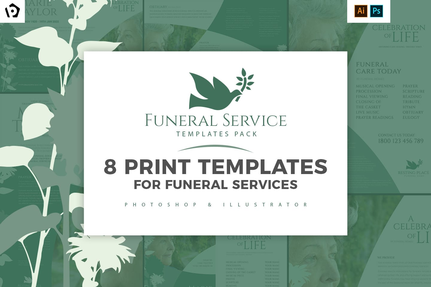Funeral Service Templates Pack