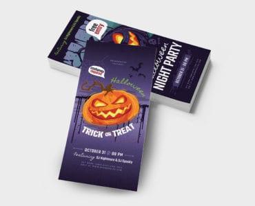 Halloween DL Card Template