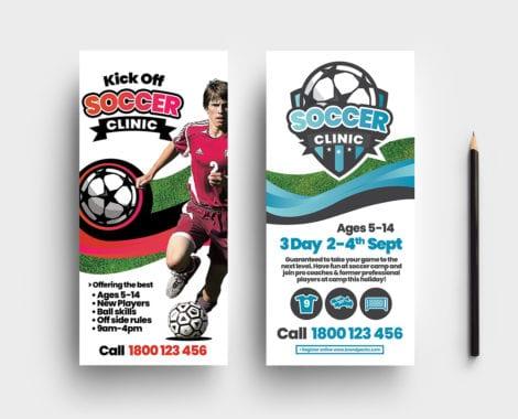Soccer Camp DL Card Template