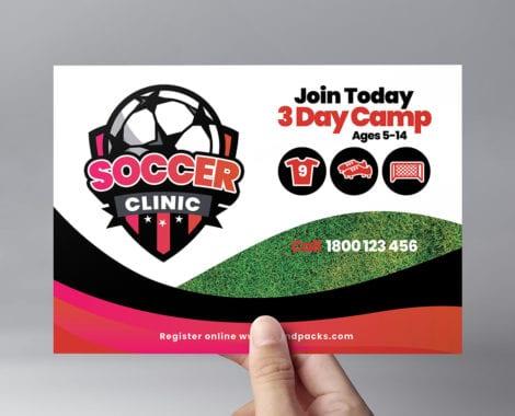 Soccer Camp Flyer Template