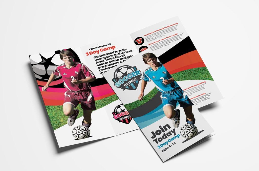 Soccer Camp Tri-Fold Brochure Template