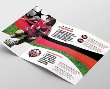 Soccer Camp Tri-Fold Brochure Template