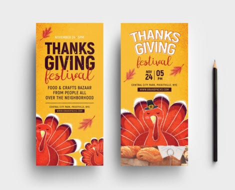 Thanksgiving Festival DL Card Template