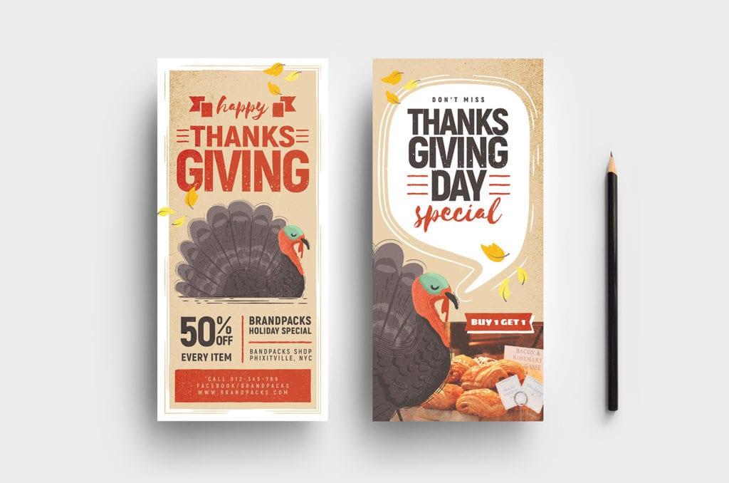 Thanksgiving DL Card Templates