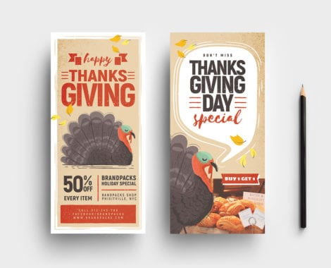 Thanksgiving DL Card Templates