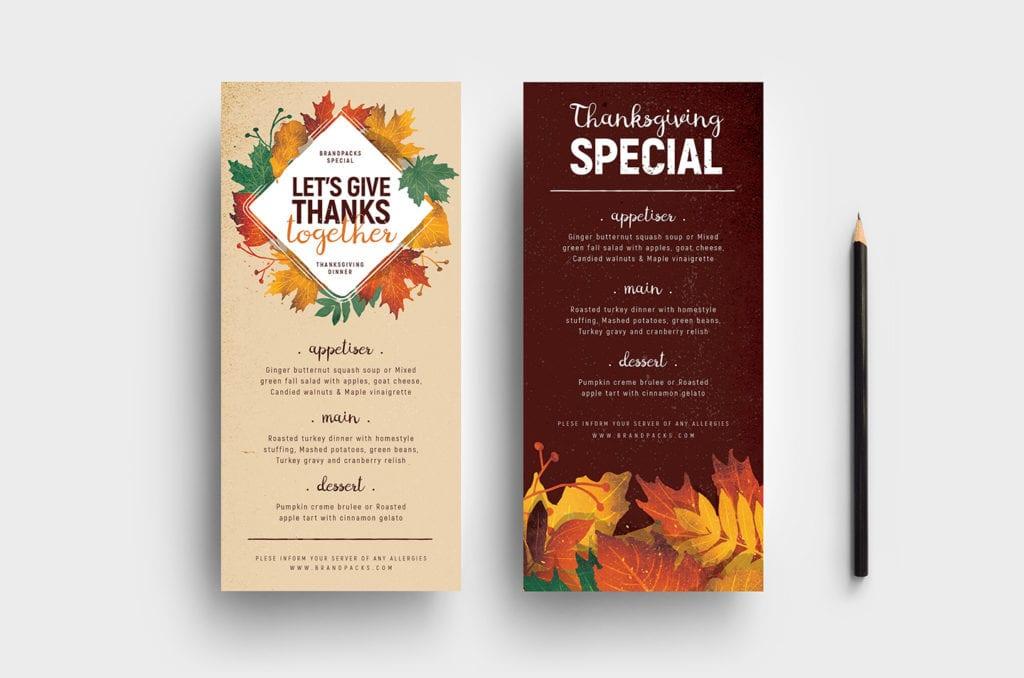 Thanksgiving DL Menu Template