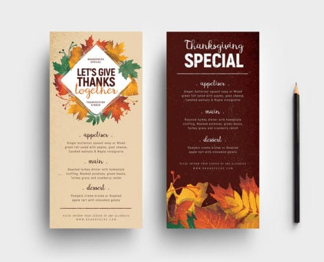 Thanksgiving DL Menu Template