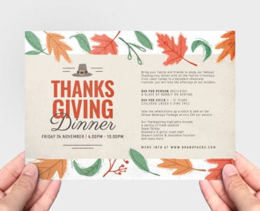 Thanksgiving Menu Flyer Template