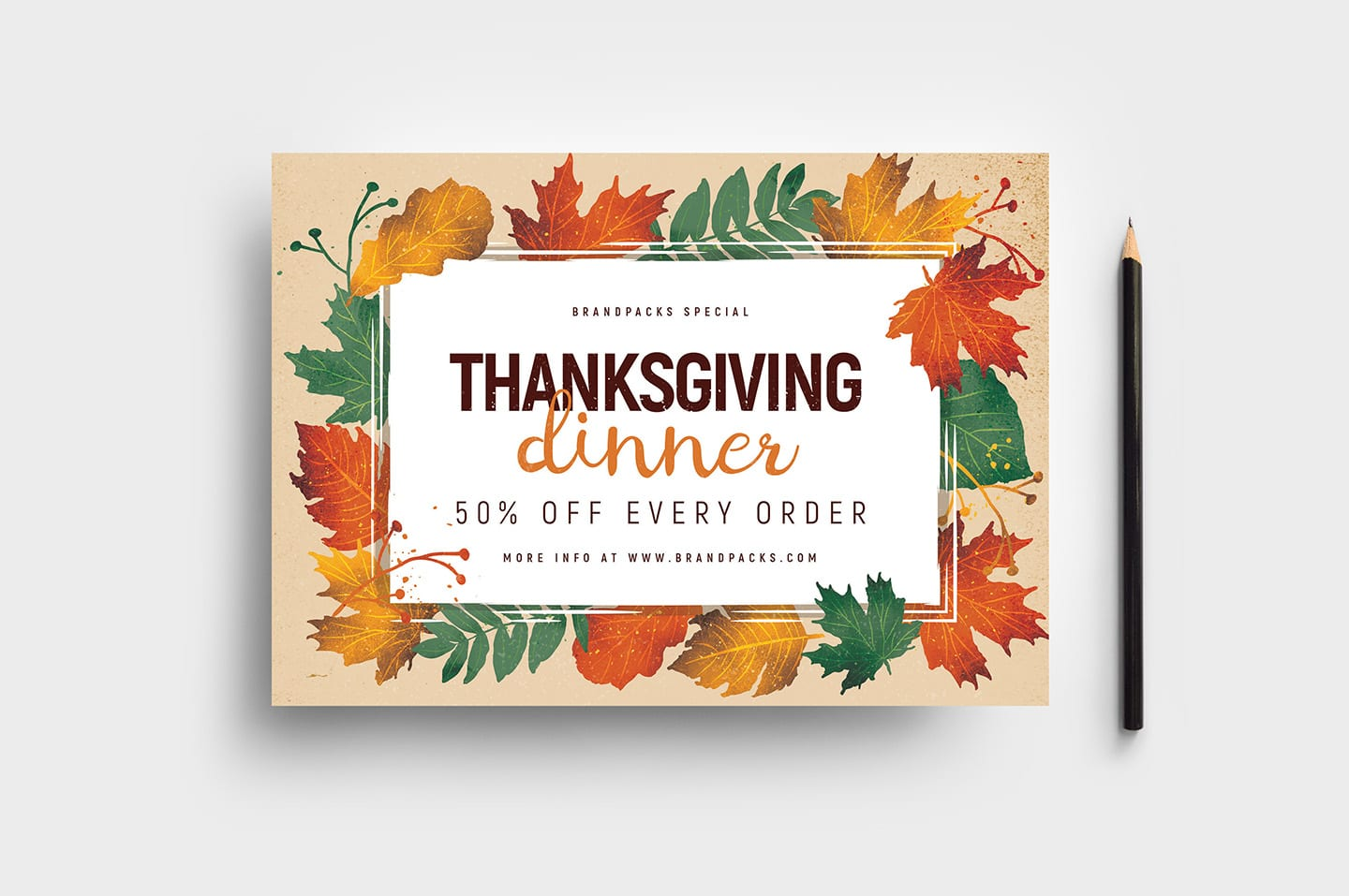 Thanksgiving Flyer Template from brandpacks.com