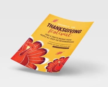 Thanksgiving Festival Poster Template