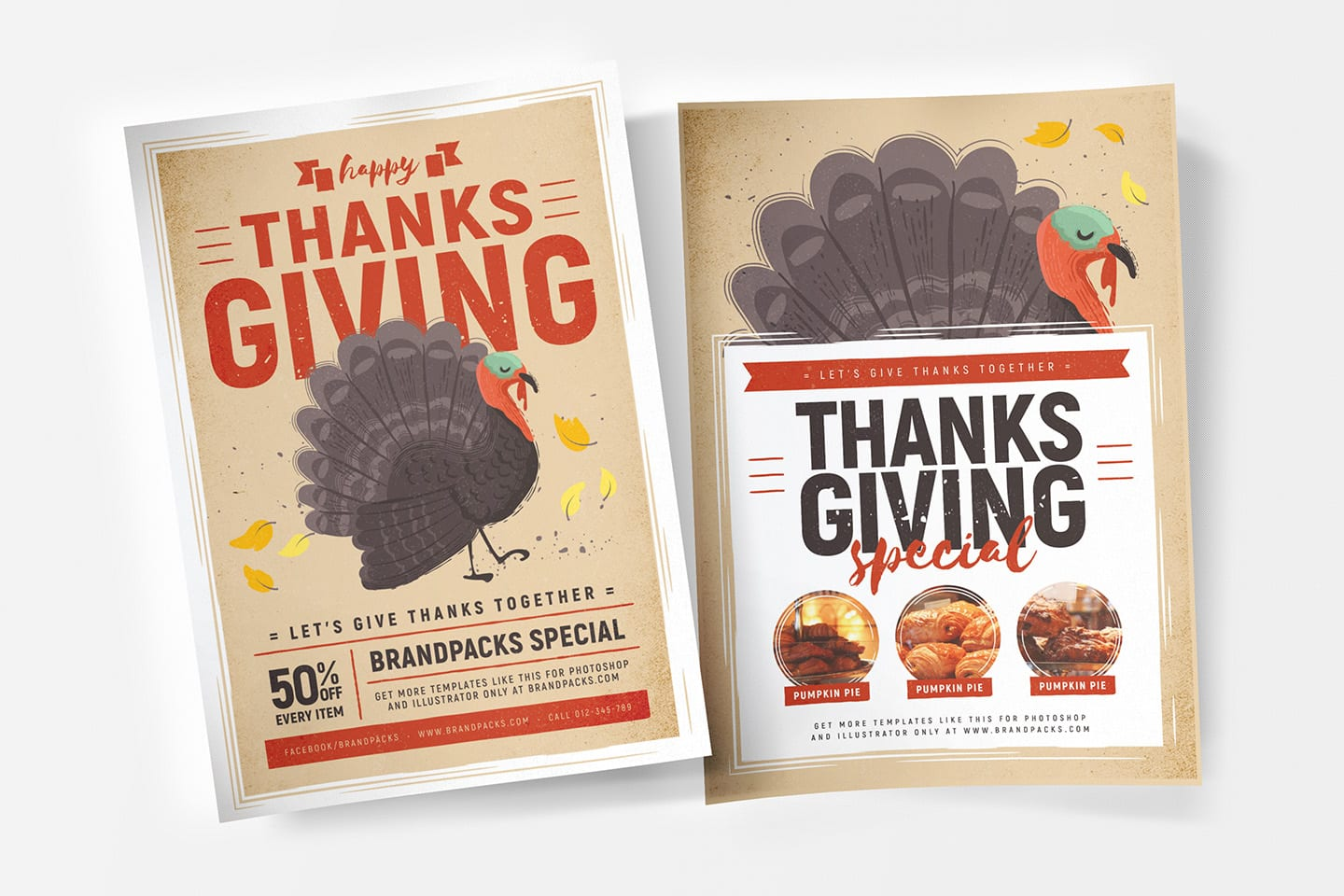 Thanksgiving Poster Templates