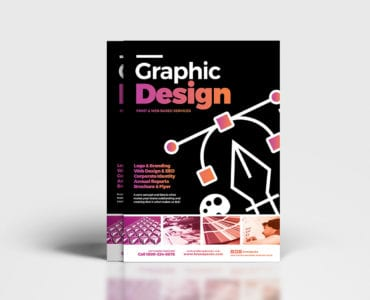 A4 Graphic Designer Poster Template