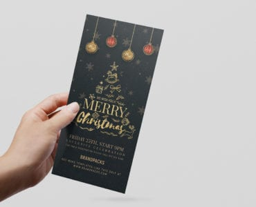 DL Christmas Rack Card Template