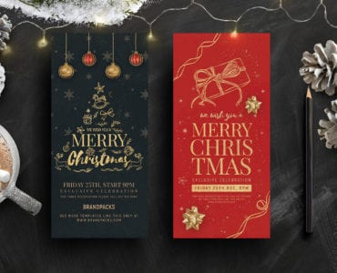 DL Christmas Rack Card Templates