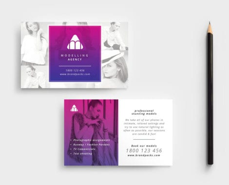 Modelling Agency Business Card Template