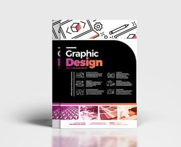 A4 Graphic Design Service Poster Template