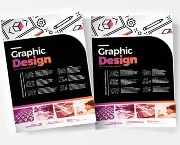 A4 Graphic Design Service Poster Templates