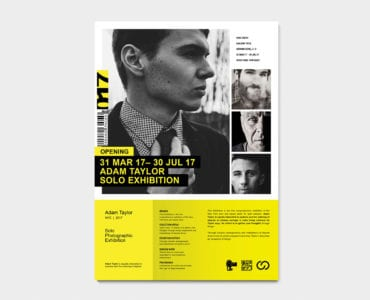 A4 Photography Exhibition Poster Template