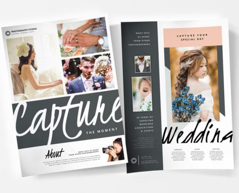 A4 Wedding Photographer Poster Templates