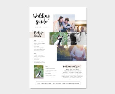 A4 Wedding Photographer Poster Template