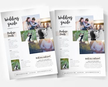 A4 Wedding Photographer Poster Template