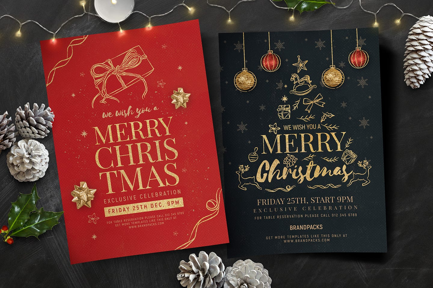 christmas poster template in psd  ai  u0026 vector