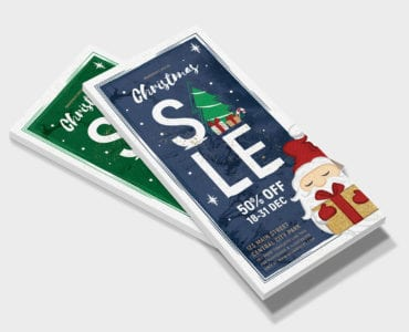 Christmas Sale DL Rack Card Template