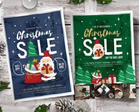 Christmas Sale Poster Templates
