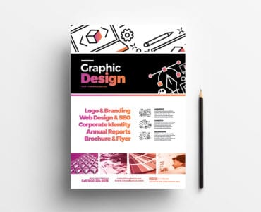Graphic Design Agency Poster Template