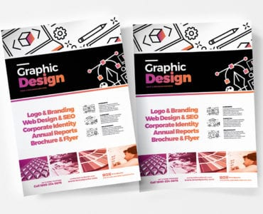 Graphic Design Agency Poster Templates