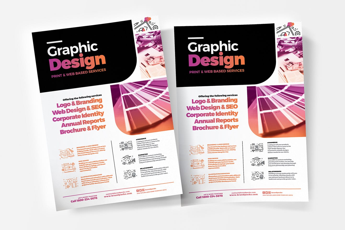 Graphic Design Agency Poster Template v4 - BrandPacks