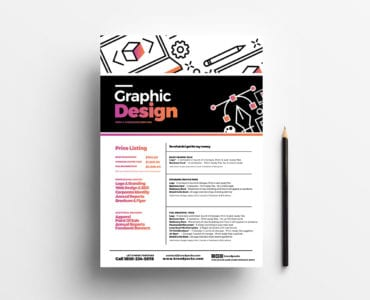 Graphic Designer Price List Template