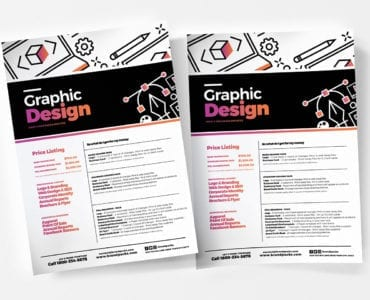 Graphic Designer Price List Templates